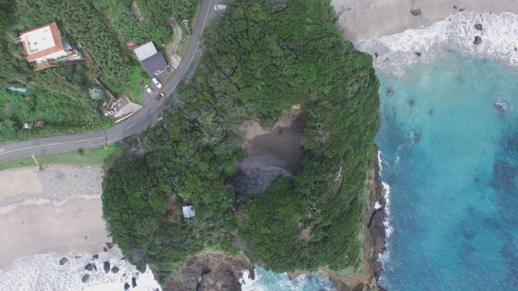 龍宮窟上空から撮影