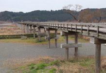 木造歩道橋としては世界最長の蓬莱橋