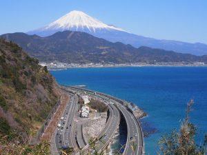 富士山を望む東海道五十三次 薩埵峠