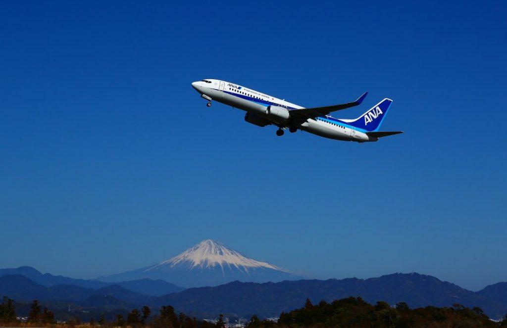 空港からの富士山