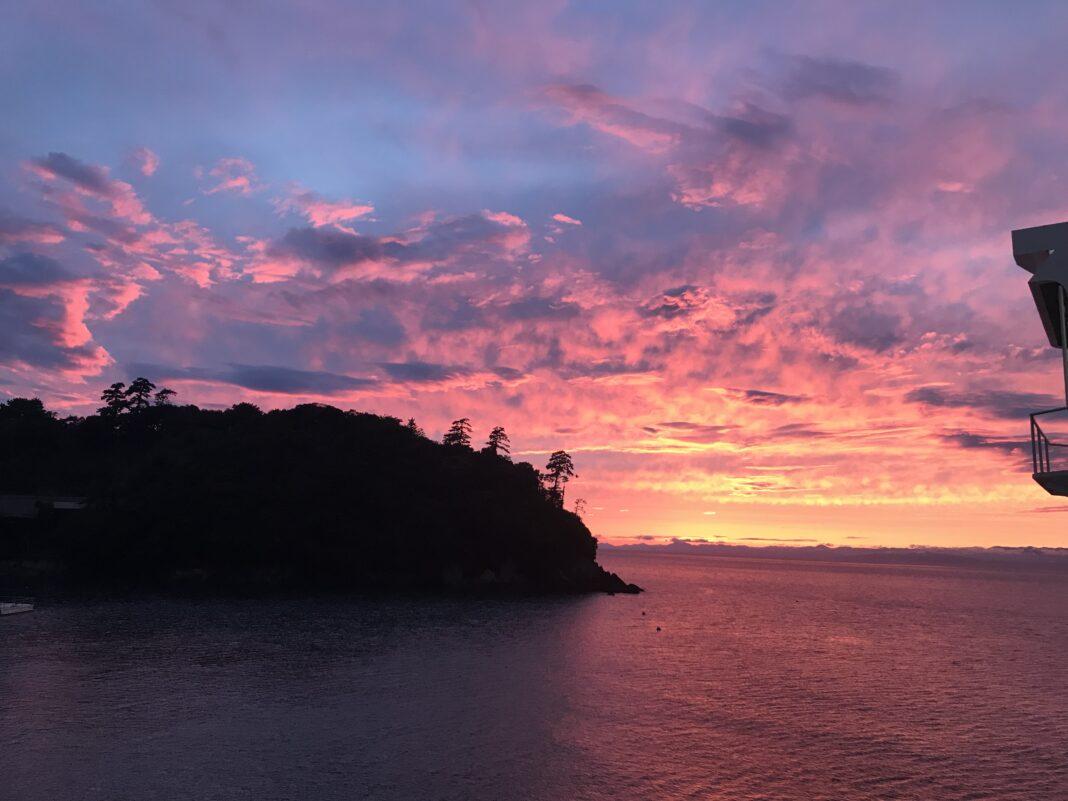 駿河湾フェリーからの夕景