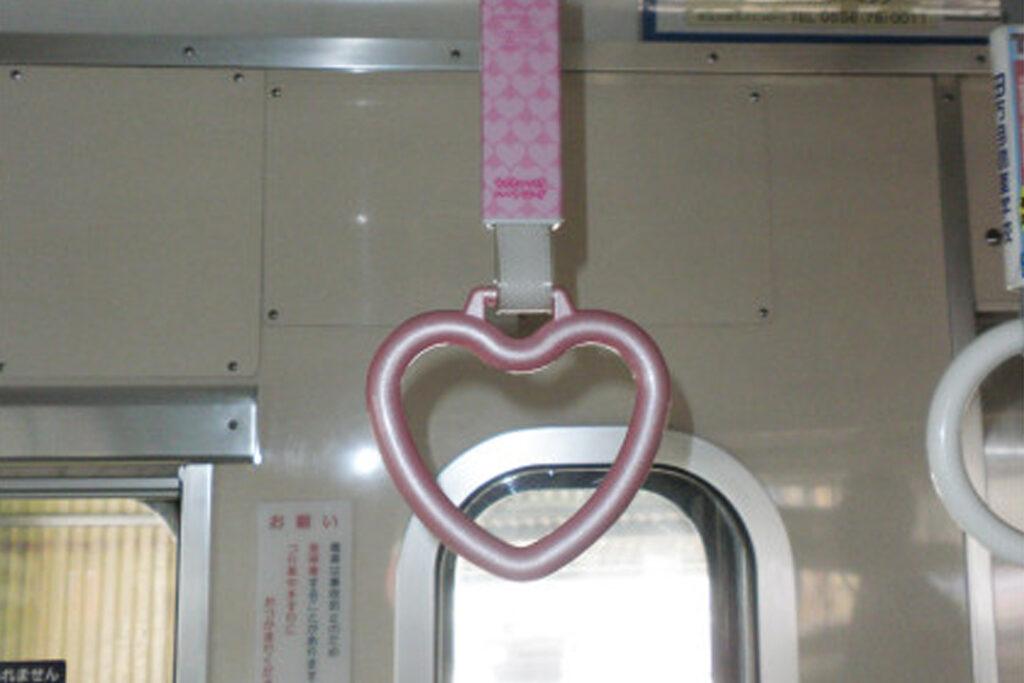 伊豆箱根鉄道「ハートのつり革」