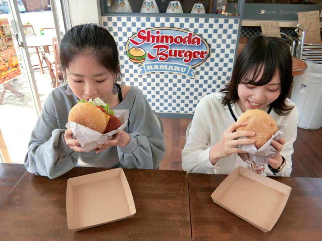 「Cafe&Hamburger Ra-maru」の下田バーガー